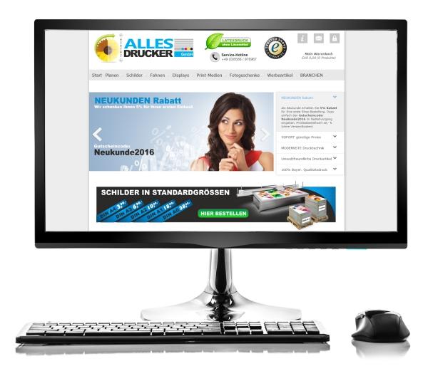 Webdesign Referenz Allesdrucker GmbH