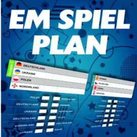 Die EM 2016 ohne Spielplan? Geht ja gar nicht!