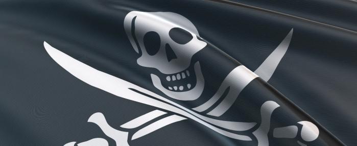 Piratenfahne im Wind