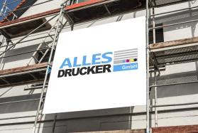 Werbeplane als Gerüstplane für die Baustellenwerbung