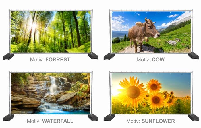 Werbeplanen mit Nature Style Motiven