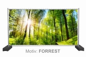 Motiv: FORREST aus der Nature-Style Bauzaunplanen Serie vom Allesdrucker