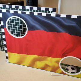 Großes Fußballvergnügen mit der Mini-Torwand vom Allesdrucker
