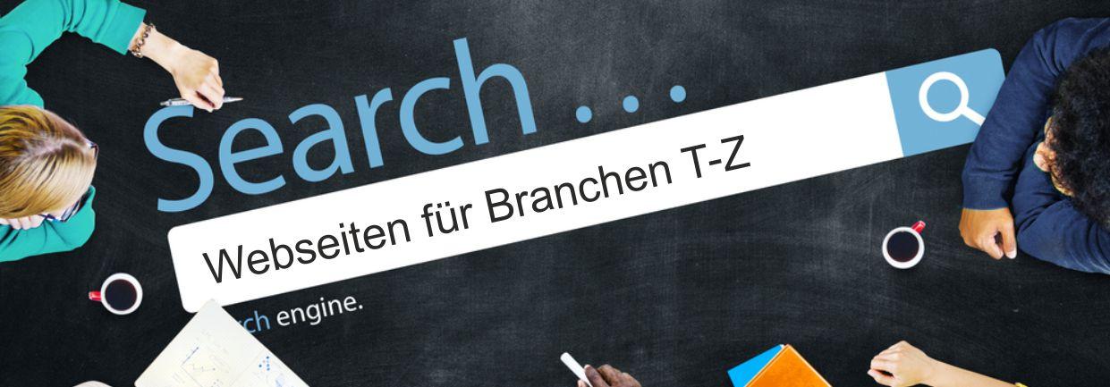 Business Webdesign aus Passau – Branchen T-Z